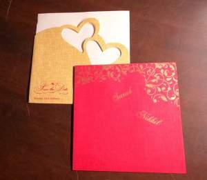 Standard Invitation Twin Hearts Design